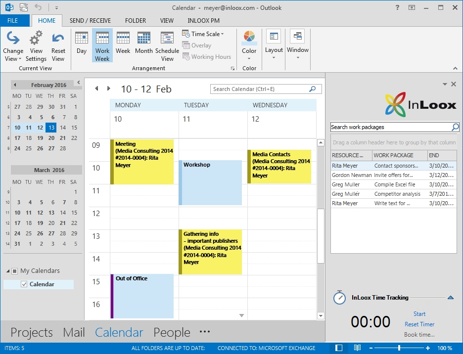 <b>Sincronización con Outlook</b> – Aproveche las sinergias con Microsoft Outlook